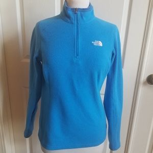 The north face fleece sweater size M blue